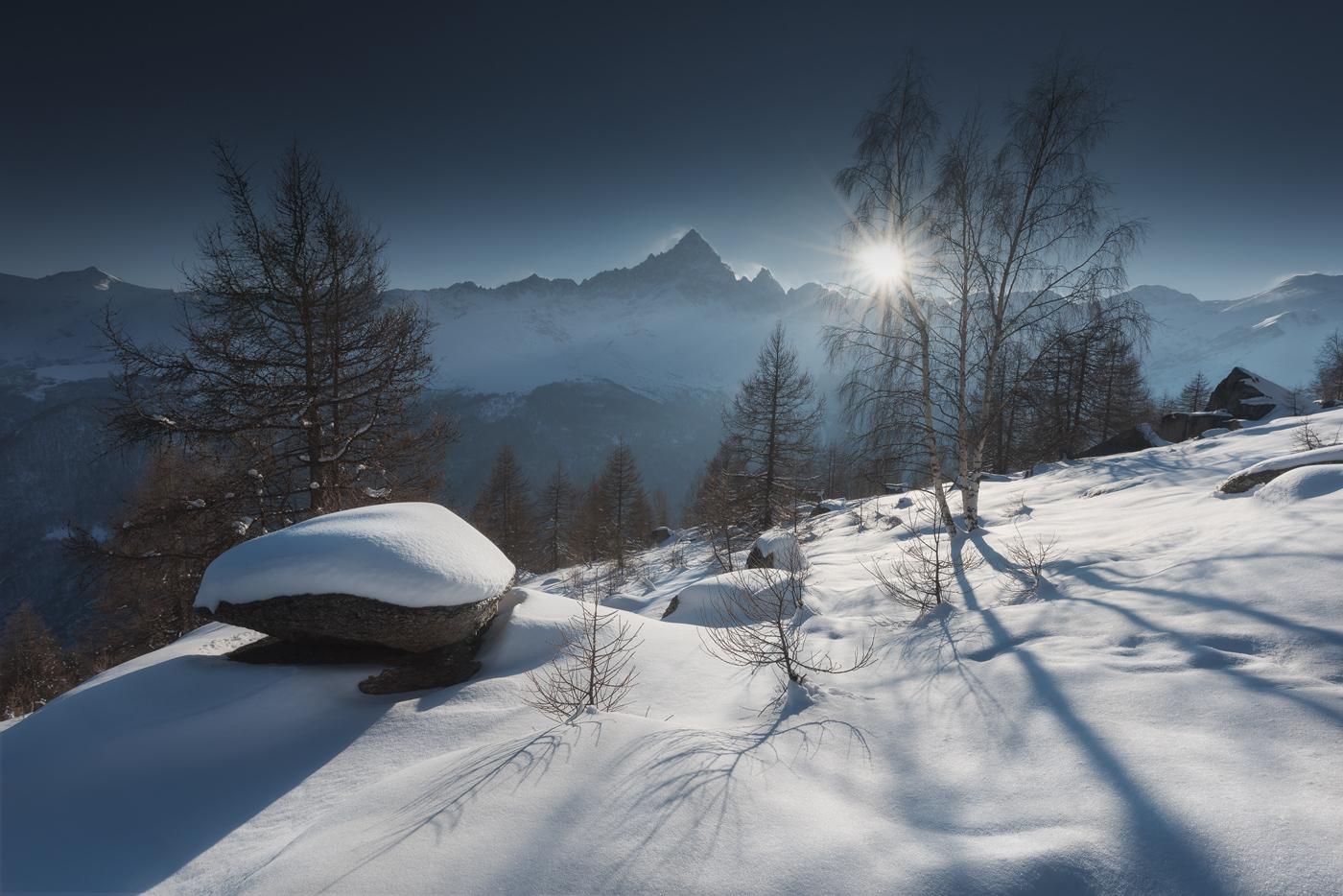 Monviso in inverno